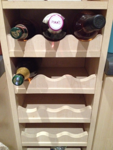 Wine rack (looking a bit sorry for itself though!)