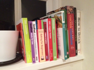 A small selection of my recipe book collection