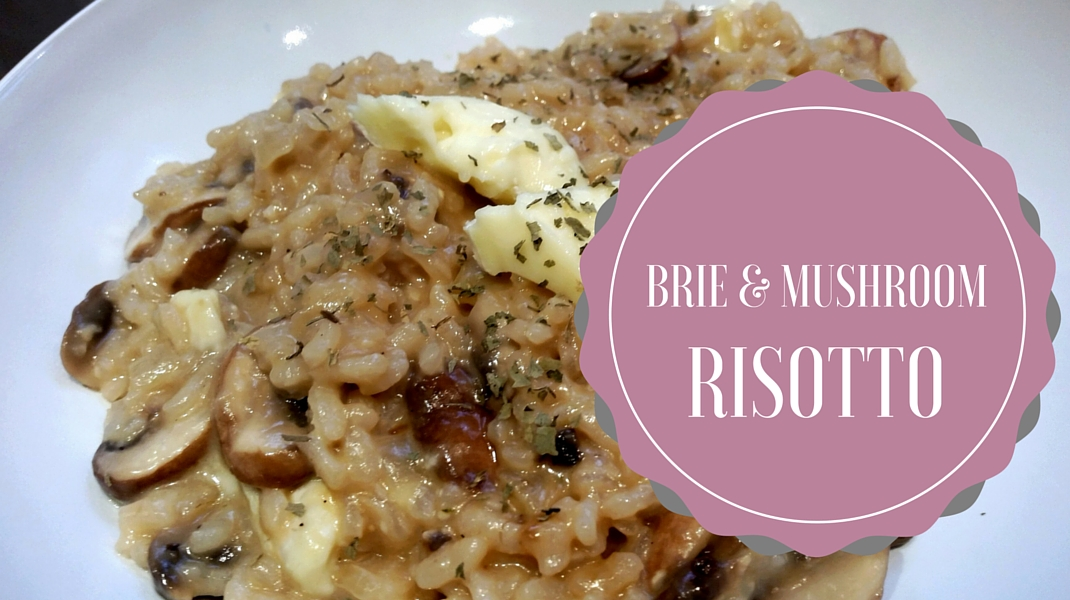 Brie and mushroom risotto