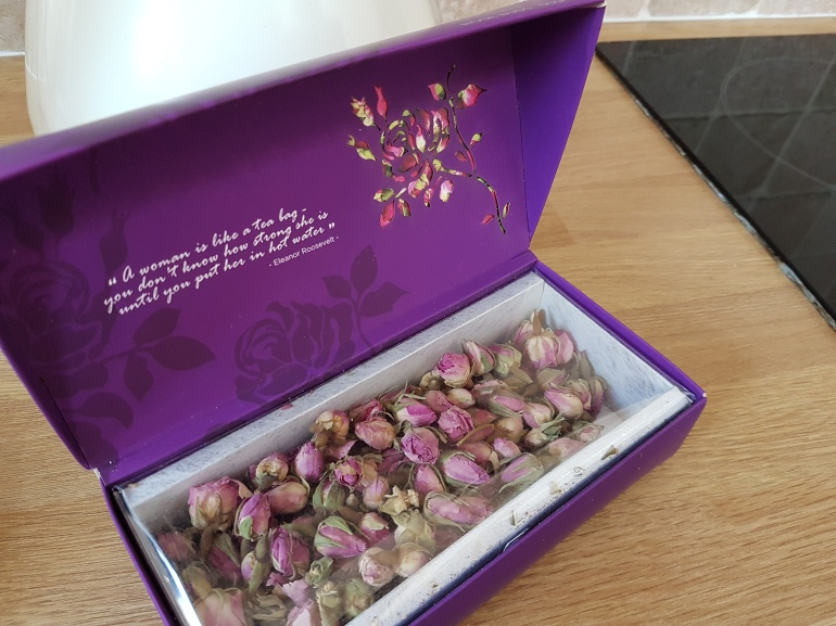 Rose bud tea from Yandra Tea Company which offers a lot of health benefits